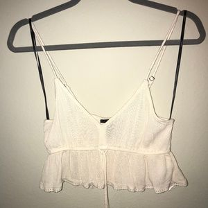 Girly babydoll crop tank top